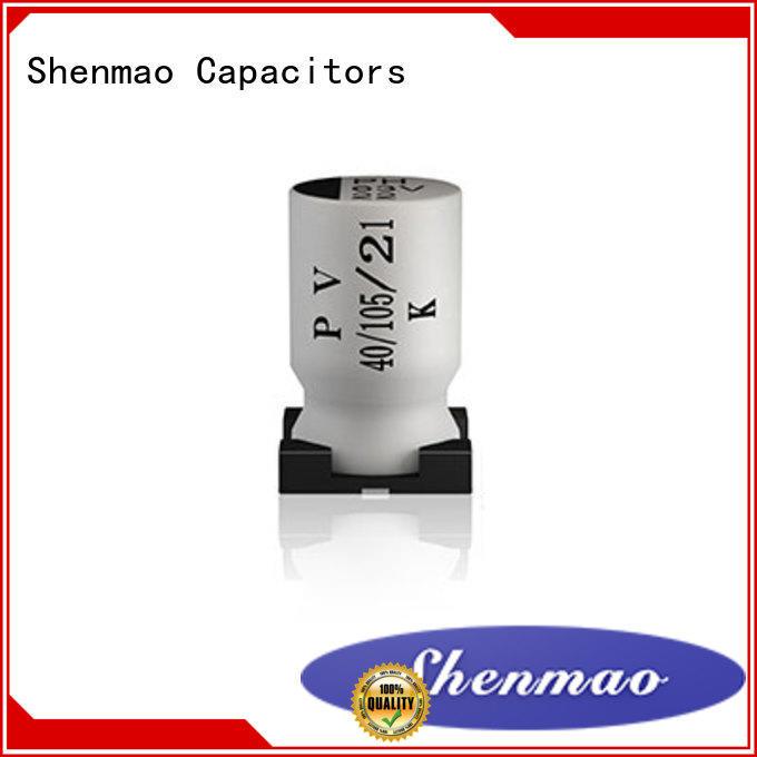 Shenmao energy-saving smd aluminium capacitor supplier for energy storage