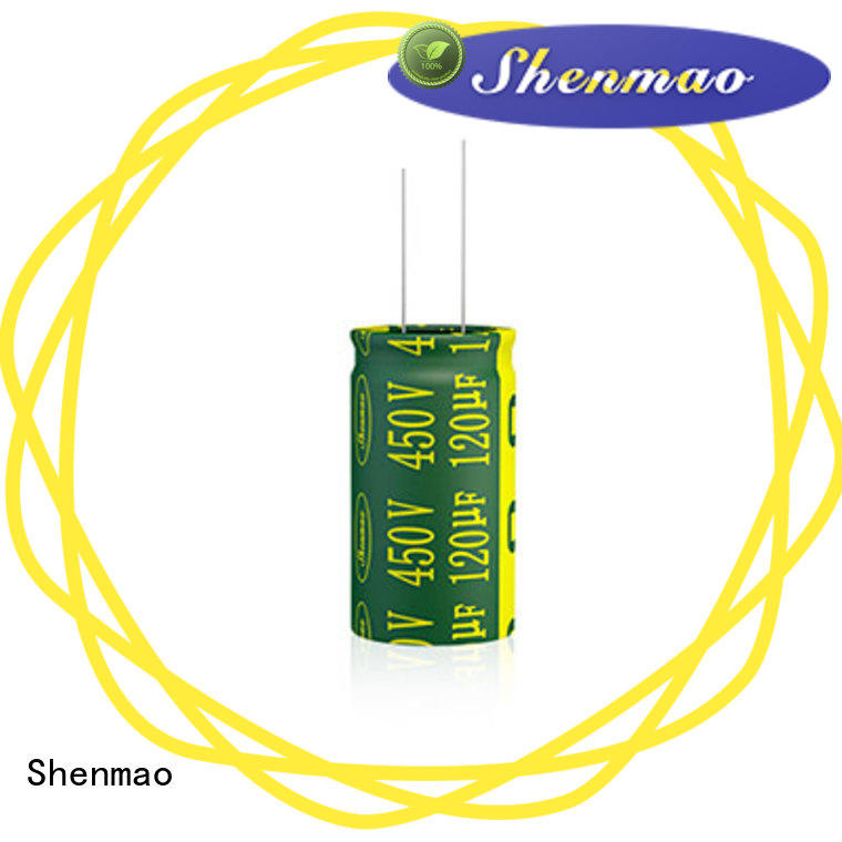 Shenmao easy to use Radial Aluminum Electrolytic Capacitor overseas market for coupling