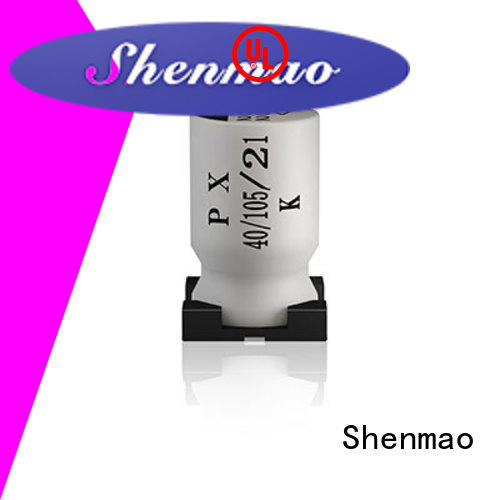 Shenmao competitive price surface mount electrolytic capacitor bulk production for tuning