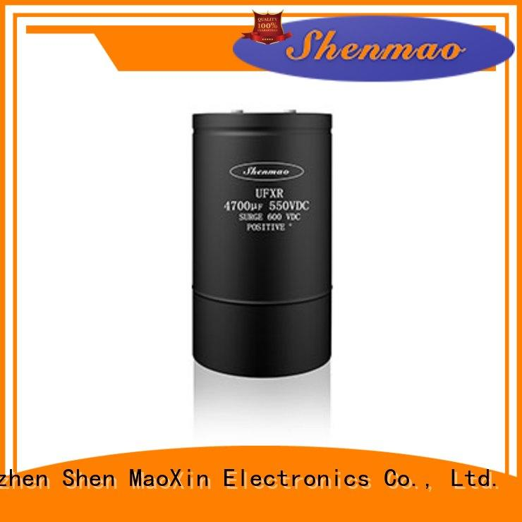 Shenmao low esr aluminum electrolytic capacitors overseas market for timing