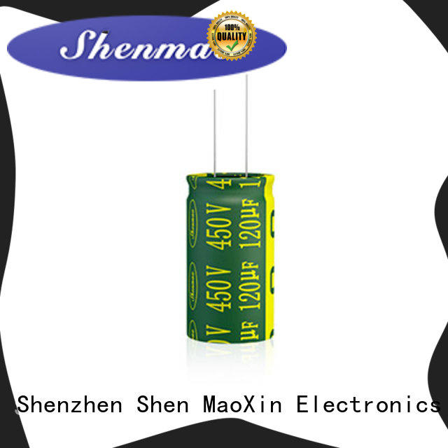 Shenmao radial aluminum electrolytic capacitors overseas market for filter