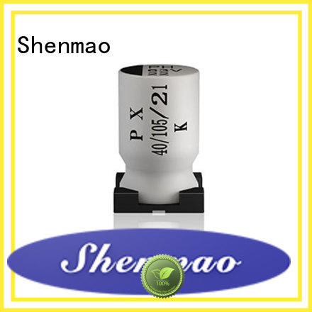 Shenmao surface mount electrolytic capacitor marketing for filter