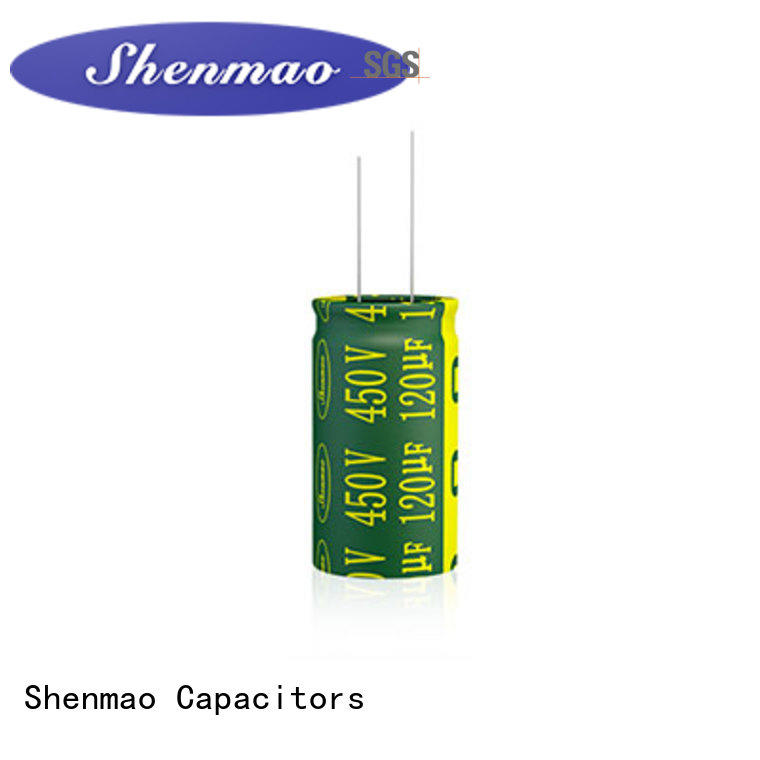 Shenmao quality-reliable 10uf 450v radial electrolytic capacitor owner for energy storage