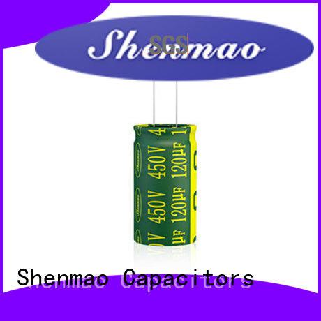 Shenmao radial capacitors marketing for DC blocking
