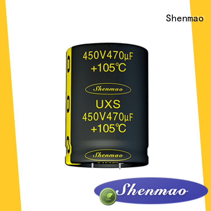 Shenmao snap in capacitor mount overseas market for filter