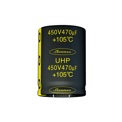 Low profile aluminum electrolytic snap-in capacitors UHP SERIES( 105℃ 2000H)