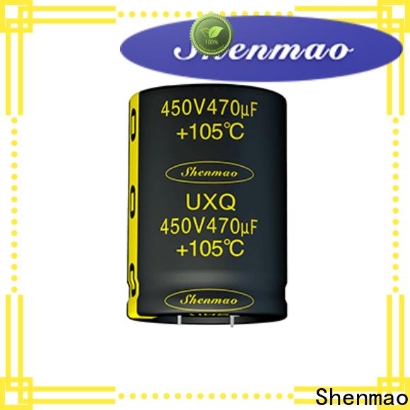 Shenmao 500v electrolytic capacitor bulk production for rectification