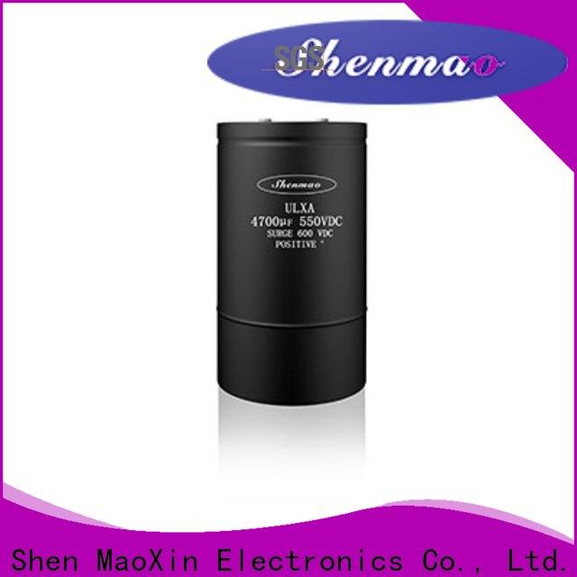 Shenmao professional screw terminal electrolytic capacitor supplier for rectification
