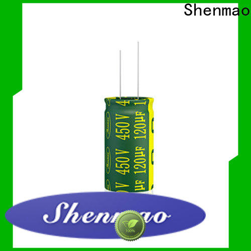 Shenmao quality-reliable 10uf 450v radial electrolytic capacitor bulk production for coupling
