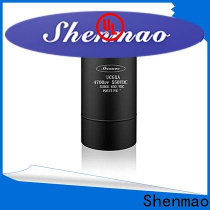 Shenmao stable aluminum capacitor manufacturers overseas market for filter