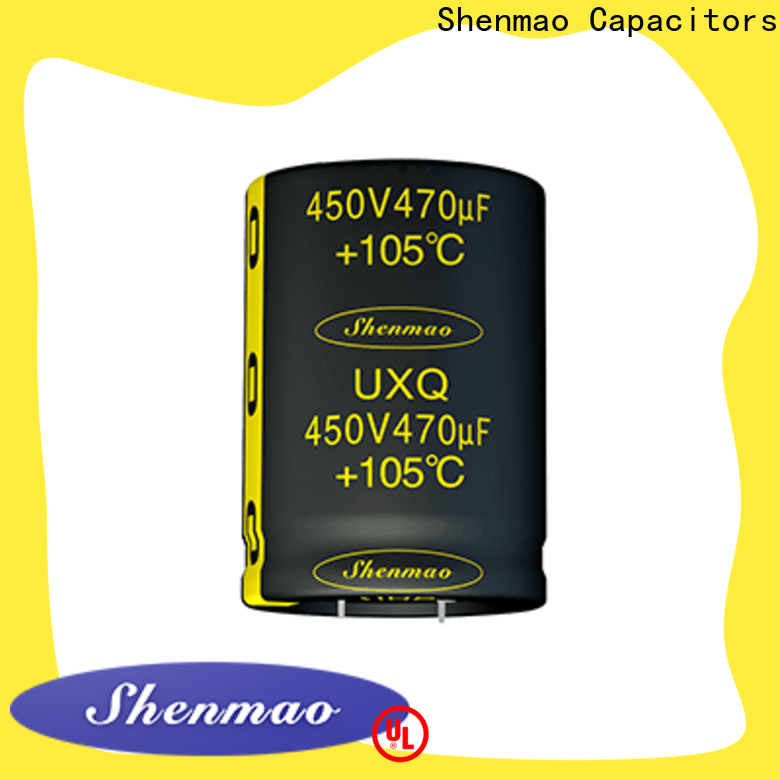 Shenmao stable snap in capacitor socket bulk production for tuning
