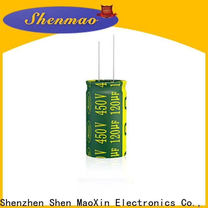 Shenmao 10uf 450v radial electrolytic capacitor vendor for rectification