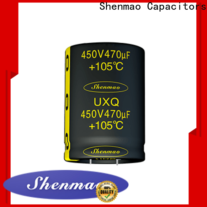 Shenmao snap-in capacitors bulk production for coupling