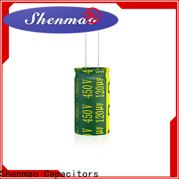 Shenmao stable 10uf 450v radial electrolytic capacitor overseas market for filter