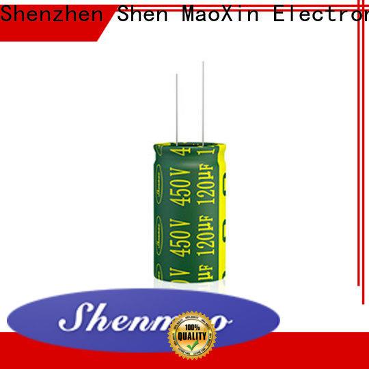 Shenmao radial type capacitor vendor for DC blocking