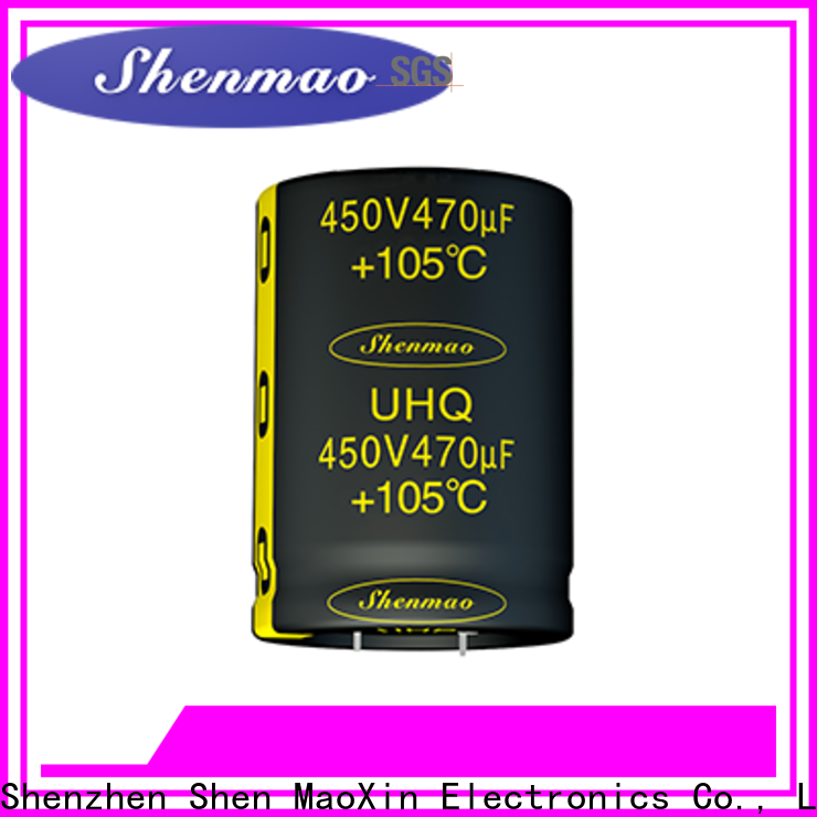 Shenmao fine quality snap in capacitor supplier for DC blocking