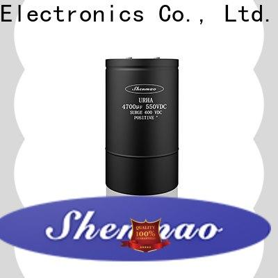 Shenmao stable screw terminal capacitors overseas market for tuning