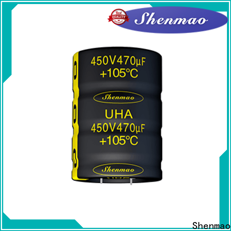 Shenmao 450 volt electrolytic capacitors bulk production for timing