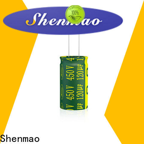 Shenmao radial aluminum electrolytic capacitors bulk production for rectification