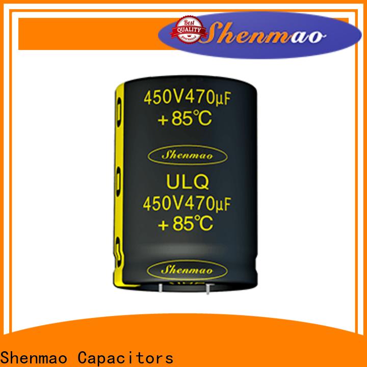 Shenmao snap in aluminum electrolytic capacitors overseas market for energy storage
