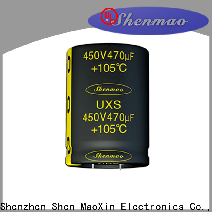 Shenmao electrolytic capacitors in series marketing for coupling