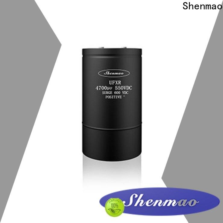 Shenmao energy-saving aluminum capacitor manufacturers vendor for DC blocking