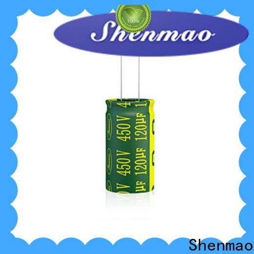 Shenmao electrolytic capacitor function bulk production for DC blocking