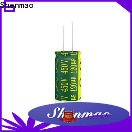 Shenmao stable radial can capacitor overseas market for coupling