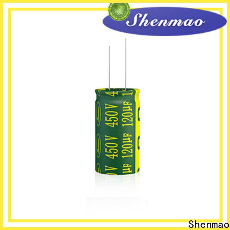 Shenmao radial aluminum electrolytic capacitors bulk production for tuning