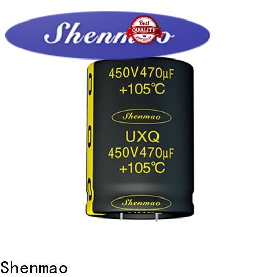 Shenmao snap in electrolytic capacitors overseas market for DC blocking