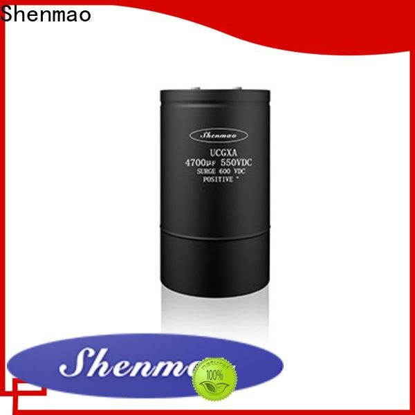 Shenmao polymer aluminum electrolytic capacitors overseas market for DC blocking
