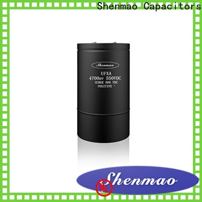 Shenmao advanced technology screw type capacitor oem service for DC blocking