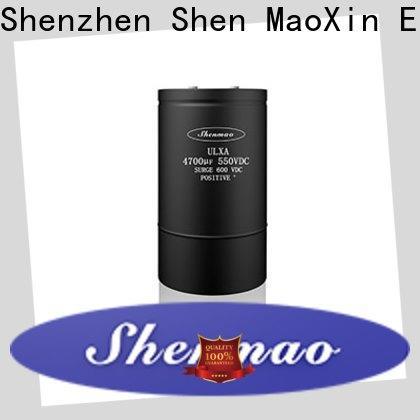 Shenmao aluminum capacitor manufacturers owner for DC blocking