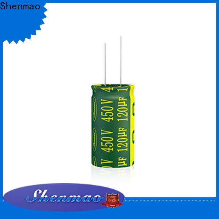 Shenmao radial aluminum electrolytic capacitors bulk production for temperature compensation