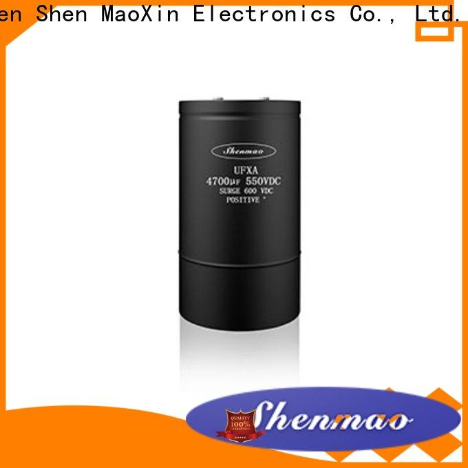 Shenmao aluminum capacitor manufacturers oem service for DC blocking