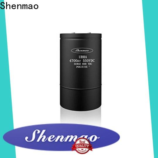 Shenmao advanced technology screw terminal electrolytic capacitor marketing for DC blocking