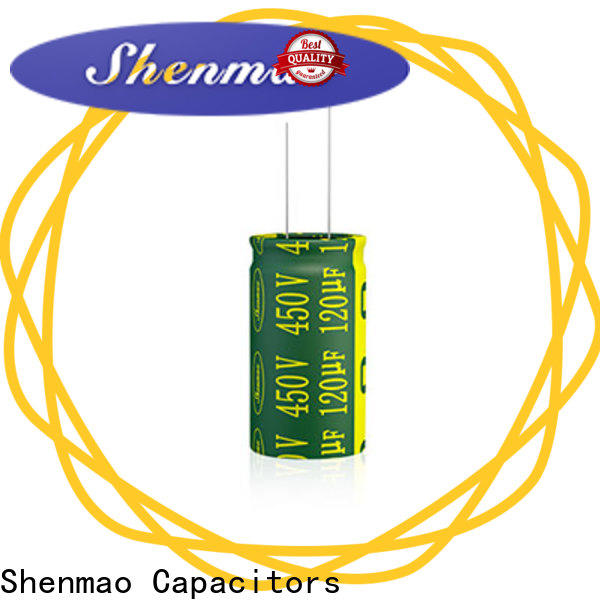Shenmao high quality radial aluminum electrolytic capacitors owner for DC blocking