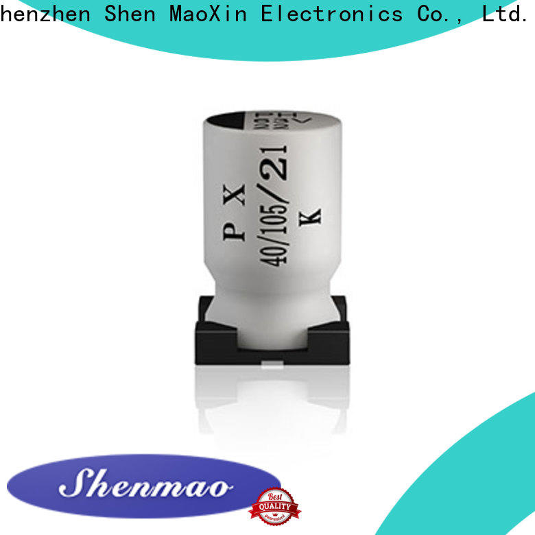 Shenmao 10uf smd electrolytic capacitor supplier for rectification