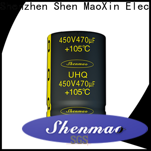 Shenmao quality-reliable 450 volt electrolytic capacitors bulk production for filter