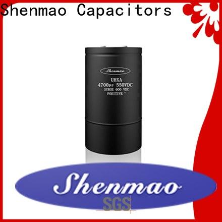 Shenmao high quality low esr aluminum electrolytic capacitors owner for DC blocking