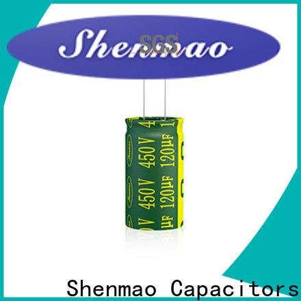 Shenmao electrolytic capacitor polarity marketing for DC blocking