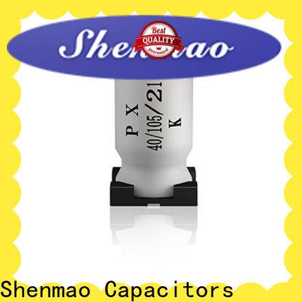 Shenmao smd electrolytic capacitor marketing for DC blocking