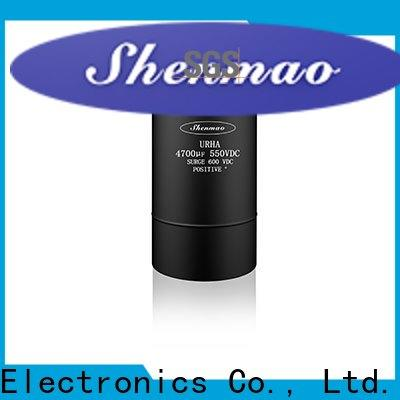 Shenmao screw terminal electrolytic capacitor oem service for timing