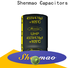 Shenmao 500v electrolytic capacitor vendor for DC blocking
