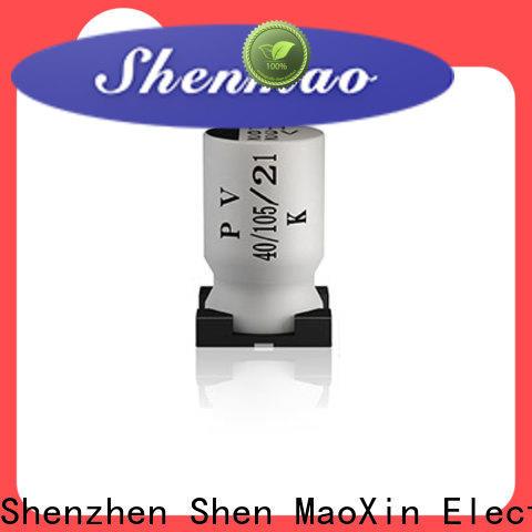 Shenmao smd electrolytic capacitor vendor for DC blocking