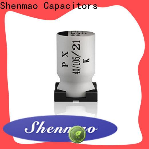 Shenmao energy-saving capacitor electrolytic smd vendor for DC blocking