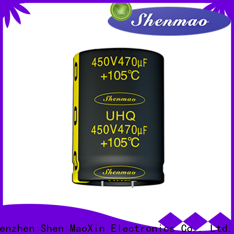 Shenmao fine quality low profile aluminum electrolytic capacitors supplier for filter
