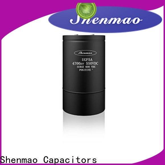 Shenmao high quality 100uf 50v electrolytic capacitor overseas market for DC blocking