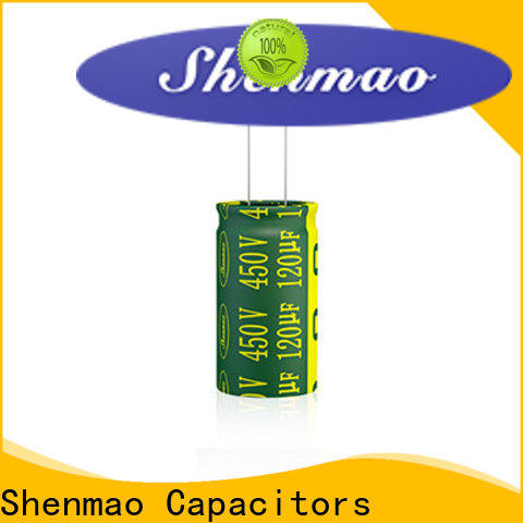Shenmao 10uf 450v radial electrolytic capacitor supplier for temperature compensation