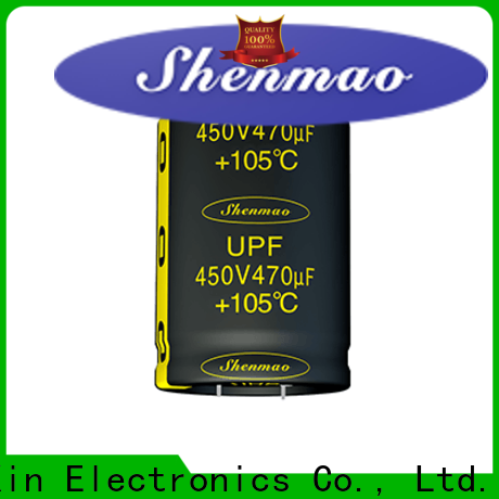 Shenmao snap in capacitor mount bulk production for coupling